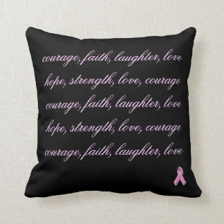 Almohada de tiro de la cita del cáncer de pecho