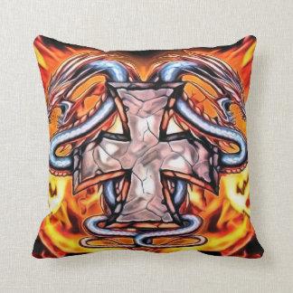 Almohada de tiro de la cruz del dragón del fuego