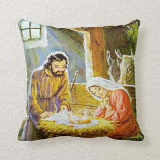 Almohada de tiro de la escena de la natividad del cojín decorativo