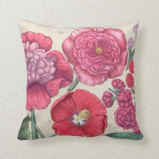 Almohada de tiro de la flor del vintage