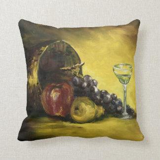 Almohada de tiro de la fruta y del vino cojín decorativo