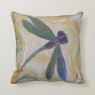 Almohada de tiro de la libélula cojín decorativo