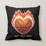 Almohada de tiro de la llama del baloncesto
