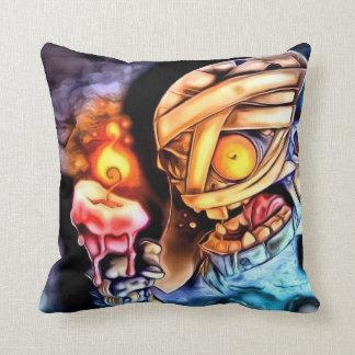 Almohada de tiro de la momia del zombi