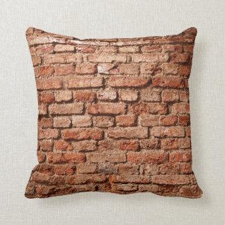 Almohada de tiro de la pared de ladrillo
