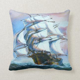 Almohada de tiro de la pintura de la nave de la ve