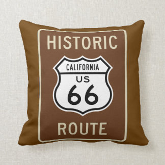 Almohada de tiro de la ruta 66 cojín decorativo