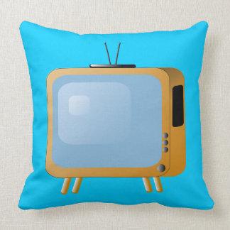 Almohada de tiro de la TELEVISIÓN del VINTAGE