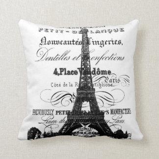 """Almohada de tiro de la torre Eiffel 20"""" x 20"""""""