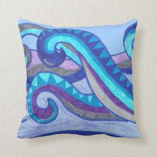 Almohada de tiro de las olas oceánicas del balance