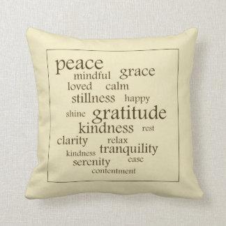 Almohada de tiro de las palabras de la serenidad y