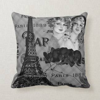 Almohada de tiro de los chicas de París