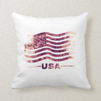 """Almohada de tiro de los E.E.U.U. América 16"""" x 16"""""""