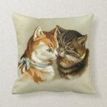 Almohada de tiro de los gatos del vintage