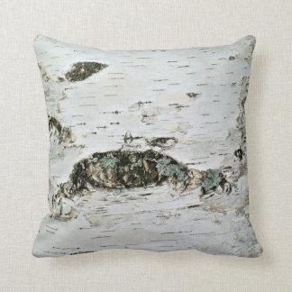 Almohada de tiro de madera de abedul cojín decorativo