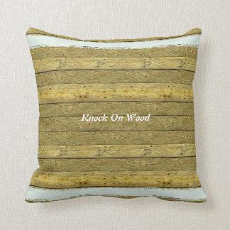 Almohada de tiro de madera de la diversión del