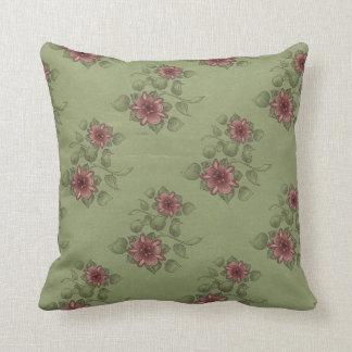 Almohada de tiro de MoJo de la rosaleda del vintag