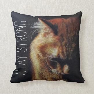 Almohada de tiro de motivación fuerte del gato de