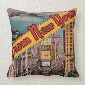 Almohada de tiro de New York City del vintage