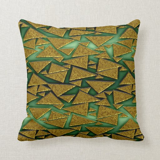 Almohada de tiro de oro del modelo del triángulo