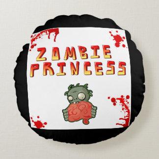 """Almohada de tiro de princesa Round del zombi (16"""") Cojín Redondo"""