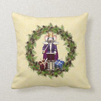 Almohada de tiro de rey Wreath Christmas del ratón