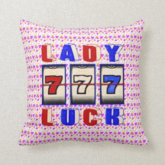 Almohada de tiro de señora Luck Slots