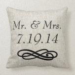 Almohada de tiro de Sr. y de señora Wedding Linen