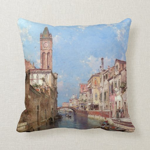 Almohada de tiro de Venecia de Unterberger