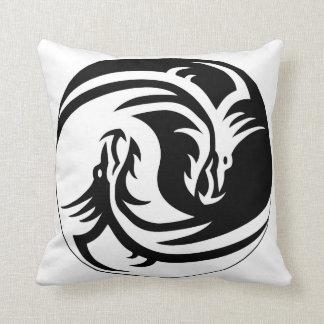 Almohada de tiro de Yin Yang del dragón