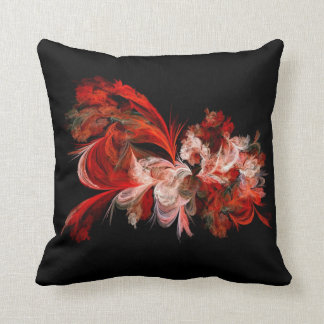 Almohada de tiro decorativa abstracta negra roja cojín decorativo