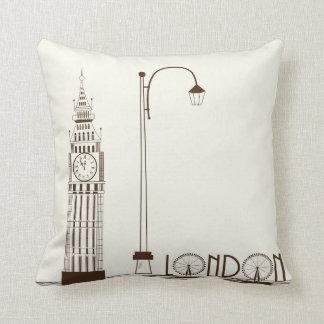 Almohada de tiro decorativa de Big Ben Londres Ing