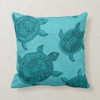 Almohada de tiro decorativa de la tortuga de mar d