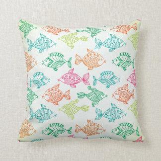 Almohada de tiro decorativa de los pescados de la