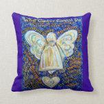 Almohada de tiro decorativa del ángel del cáncer d