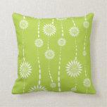 Almohada de tiro decorativa floral de la verde lim