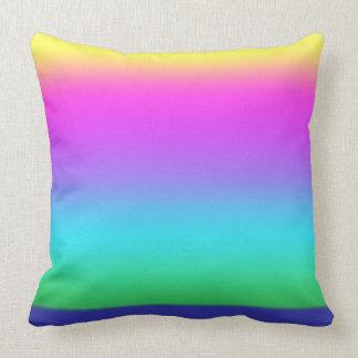 Almohada de tiro del algodón de los colores que