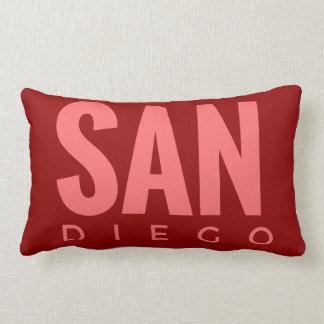 "Almohada de tiro del algodón de ""San Diego"" 13x21"