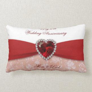 Almohada de tiro del aniversario de boda del