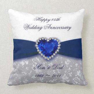 Almohada de tiro del aniversario de boda del damas