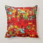 Almohada de tiro del arte abstracto por el acebo A