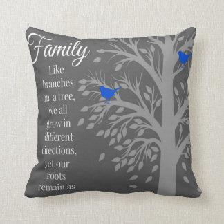 Almohada de tiro del arte de la cita del árbol de cojín decorativo
