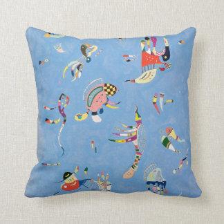 Almohada de tiro del azul de cielo de Kandinsky