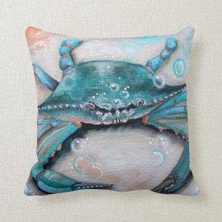 Almohada de tiro del cangrejo azul
