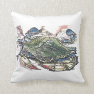 Almohada de tiro del cangrejo azul cojín decorativo