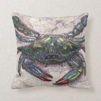 Almohada de tiro del cangrejo azul de la bahía de cojín decorativo