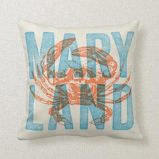 Almohada de tiro del cangrejo de Maryland