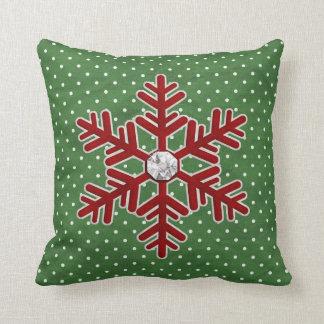 Almohada de tiro del copo de nieve del navidad