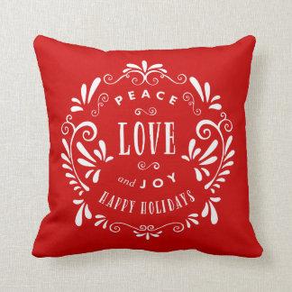 Almohada de tiro del día de fiesta del amor y de