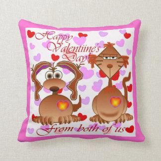 Almohada de tiro del día de San Valentín
